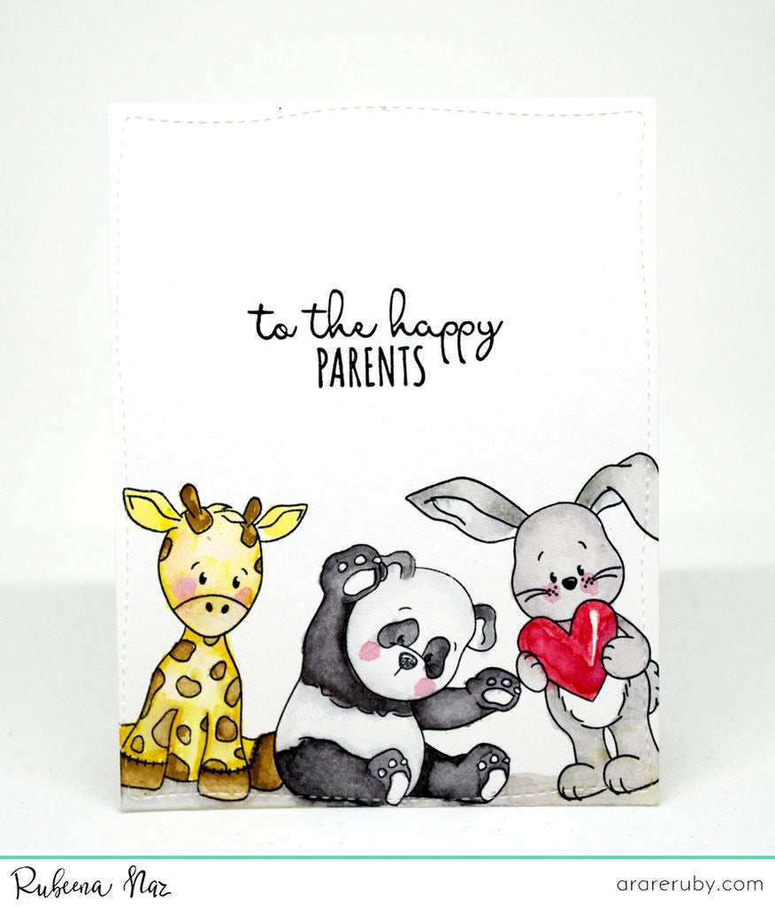 "Available 2/11-Whimsy Stamps - 4"" x 6"" Stamp Set - Baby Animals (coordinates with ""Baby Animals"" Die Set)"
