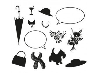 "Clarity Stamp -  Clear Stamp ""As Seen on TV"" -  Elegant Ladies Accessories Stamp Set"