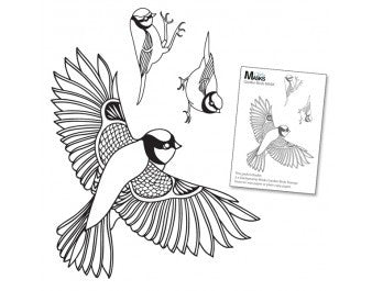 "Clarity Stamp -  Clear Stamp ""As Seen on TV"" - Remountable Garden Birds Stamp Set + MASK (Unmounted)"