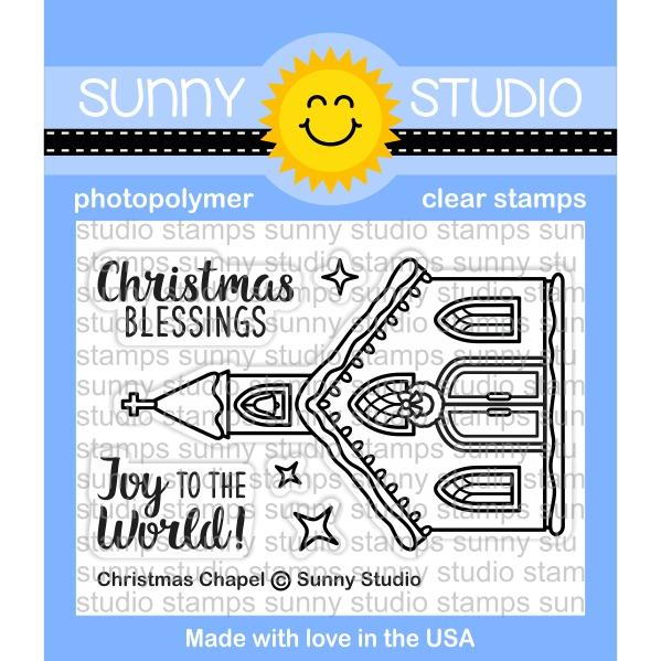Sunny Studio - Photopolymer Clear Stamps -christmas Chapel