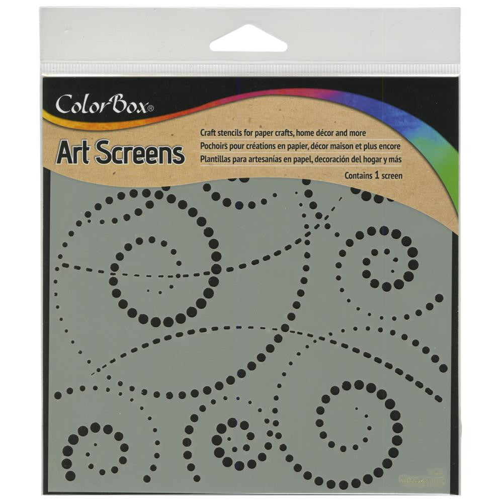 "Clearsnap ColorBox Screens 6""x6"" - Swirldot Stencil"