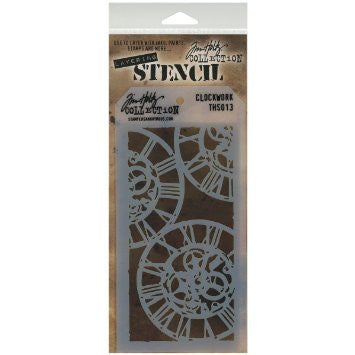 Stampers Anonymous - Tim Holtz - Layering Stencil - Clockwork