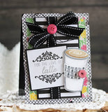 "Reverse Confetti - 4"" x 4"" Stamp Set - Caffeinated Cups"