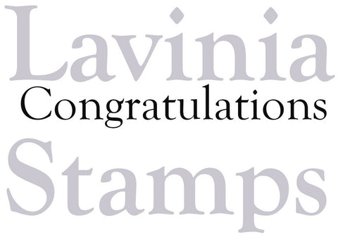 Lavinia Stamps - Words and Verses - Congratulations