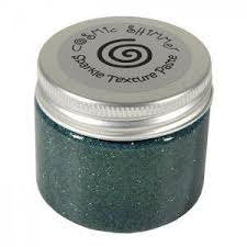 Cosmic Shimmer Texture Paste - from Sue Wilson Designs - Sparkle - Holly Green 50ml Jar