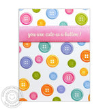 Sunny Studio - Photopolymer Clear Stamps - Cute As A Button