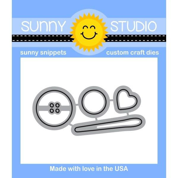 Sunny Studio - Sunny Snippets Custom Craft Dies - Cute As A Button