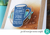 "Reverse Confetti - 4"" x 6"" Stamp Set - Just Brew It (coordinates with ""Just Brew It"" Dies)"