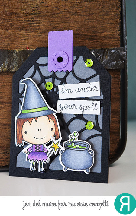 "Reverse Confetti - 4"" x 4"" Stamp Set - Best Witches (coordinates with ""Best Witches"" Dies)"
