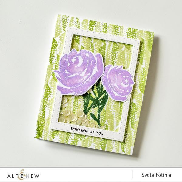 "Altenew - 6"" x 8"" Stamp Set -Brush Art Floral (coordinates with Brush Art Floral Die Set)"