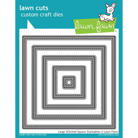 Lawn Cuts Custom Craft Die - Large Stitched Square Stackables