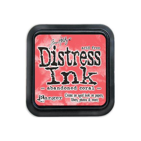 Ranger Tim Holtz Distress Ink Pad - February Color of the Month - Abandoned Coral