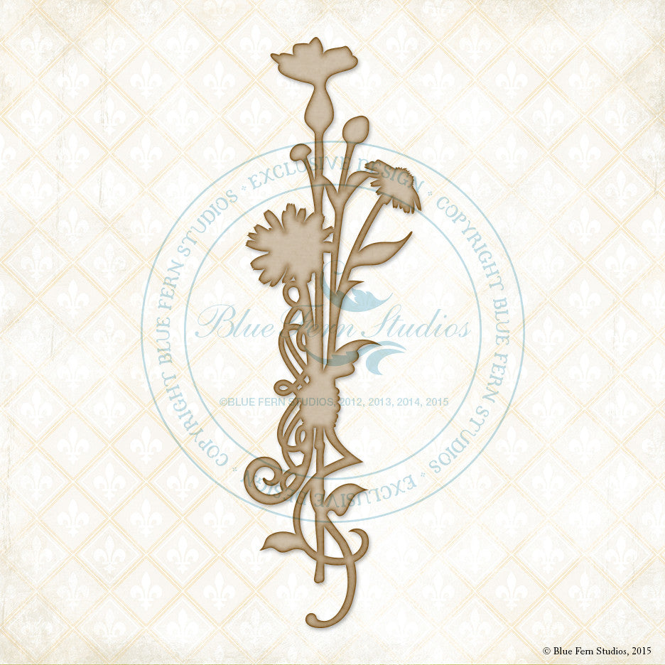Blue Fern Studios - Chipboard - Dashwood Bouquet