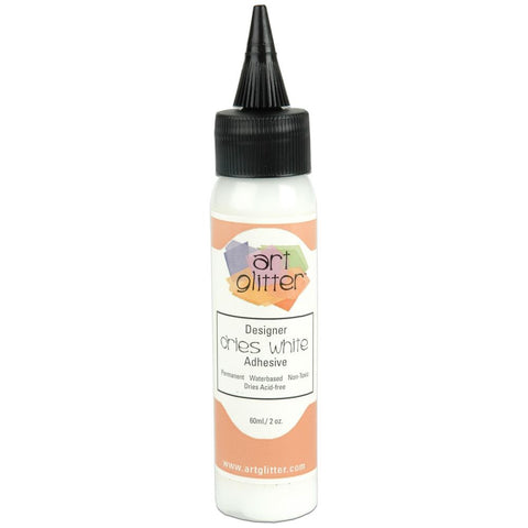 Art Glitter Glue, Art Institute Glitter Adhesive Dries White 2 oz.