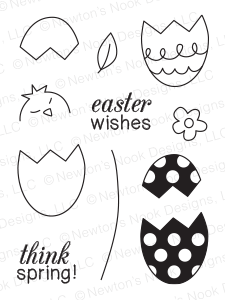 "Newton's Nook Designs - 3"" x 4"" Clear Stamps - Easter Scramble"