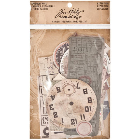 Tim Holtz Idea-Ology Ephemera Pack 63/Pkg - Expedition