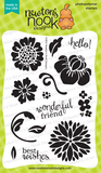 "Newton's Nook Designs 4"" x 6"" Clear Stamps - Fanciful Florals"