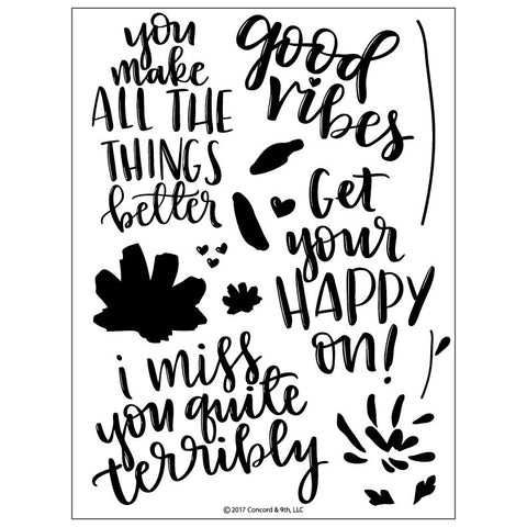 "Concord & 9th - 6"" x 8"" Stamp Set - Fill-In Phrases"