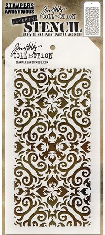 Tim Holtz - Stampers Anonymous Layering Stencil - Flames