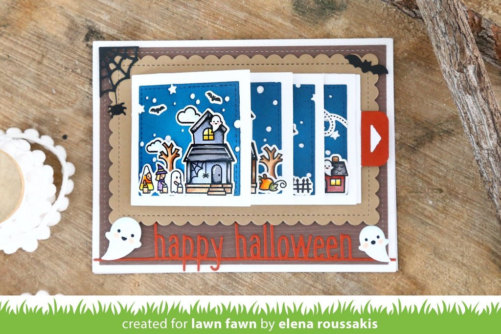 Lawn Cuts - Custom Craft Dies - Happy Halloween Line Border