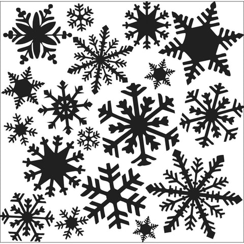 "The Crafter's Workshop 12"" x 12"" - Flurries, Snowflakes"