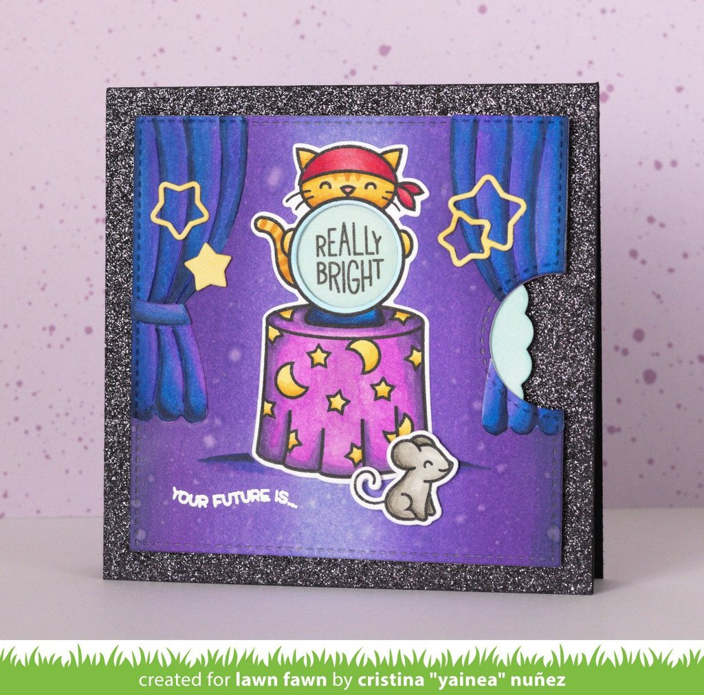 Lawn Fawn - Clear Stamp Set - Fortune Teller Tabby