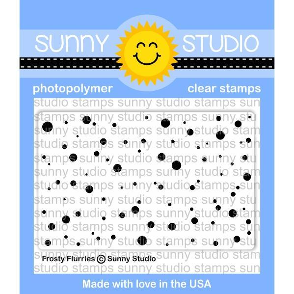 Sunny Studio - Photopolymer Clear Stamps -Frosty Flurries