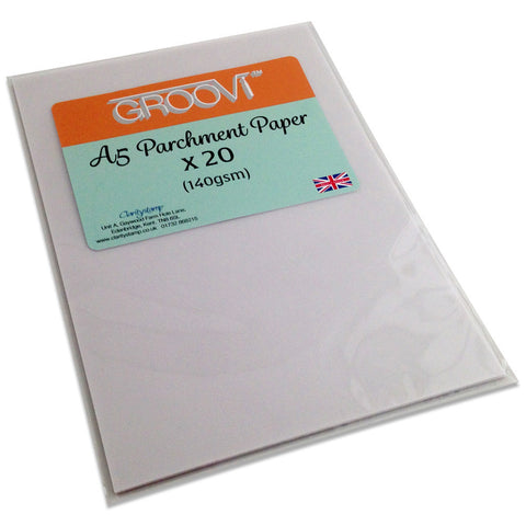 Clarity Stamp - GROOVI® Parchment Paper - A5 (20 sheets)