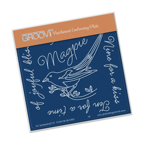 Clarity Stamp - Magpie 3 (Eight for a Wish) Groovi - Baby Plate A6