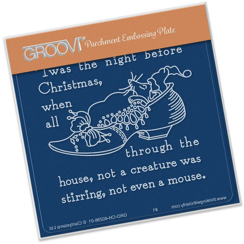 ***New Item*** Clarity Stamp - Twas the Night (01) Shoe Groovi - Baby Plate A6