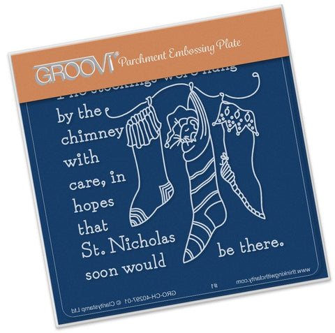 ***New Item*** Clarity Stamp - Twas the Night (02) Stockings Groovi - Baby Plate A6
