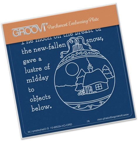 ***New Item*** Clarity Stamp - Twas the Night (04) Bauble Groovi - Baby Plate A6