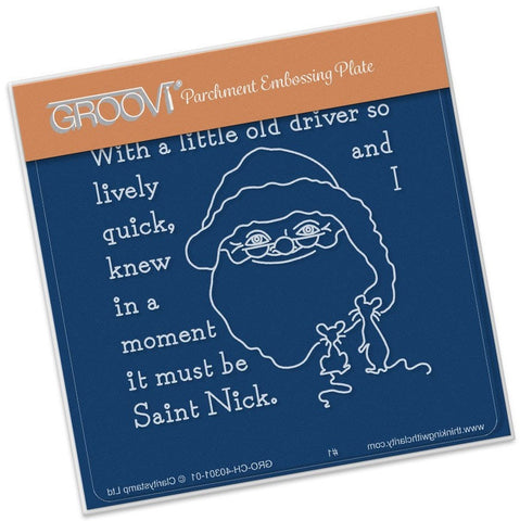 ***New Item*** Clarity Stamp - Twas the Night (06) St. Nick Groovi - Baby Plate A6
