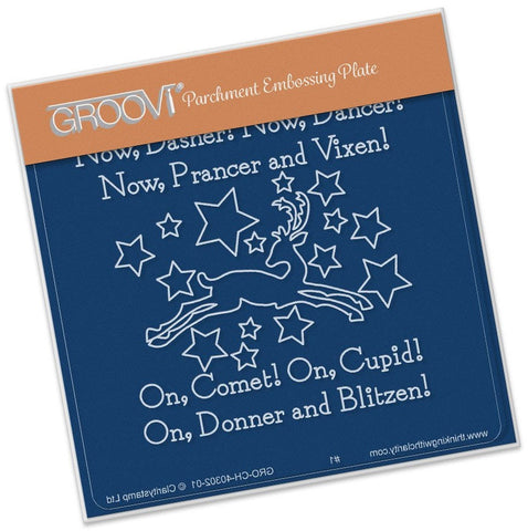 ***New Item*** Clarity Stamp - Twas the Night (07) Now Dasher! Groovi - Baby Plate A6