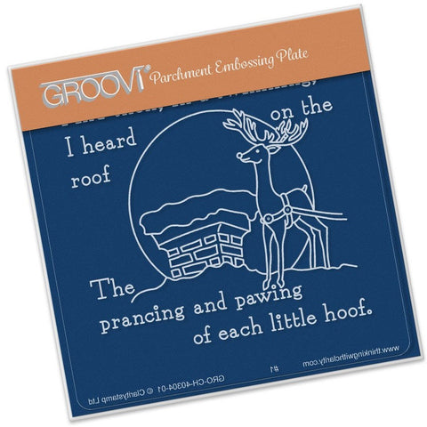 ***New Item*** Clarity Stamp - Twas the Night (09) Rooftop Groovi - Baby Plate A6