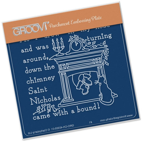 ***New Item*** Clarity Stamp - Twas the Night (10) Fireplace Groovi - Baby Plate A6