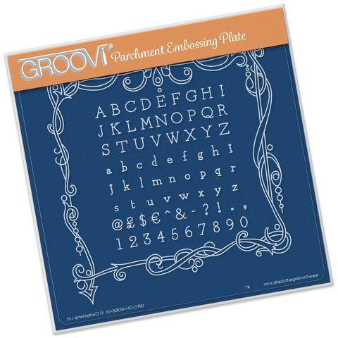 ***New Item*** Clarity Stamp - Twas the Night Universal Framer Groovi - Plate A5