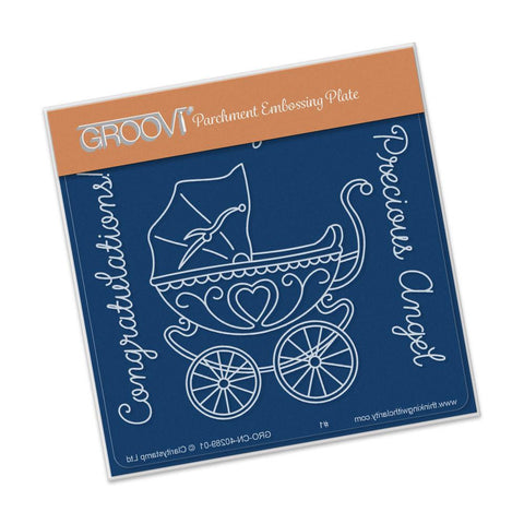***New Item*** Clarity Stamp - Pram Groovi - Baby Plate A6