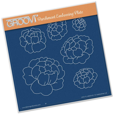 ***New Item*** Clarity Stamp - Peonies Groovi - Plate A5