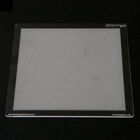 Clarity Stamp - Groovi Grid Piercing Plate - Diagonal