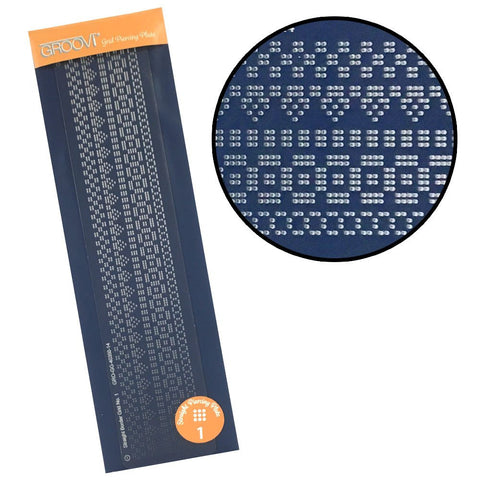 ***New Item*** Clarity Stamp - Groovi Grid Piercing Border Plate - Straight 1