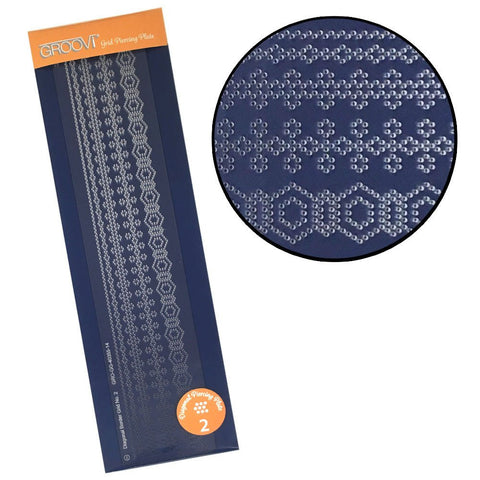 ***New Item*** Clarity Stamp - Groovi Grid Piercing Border Plate - Diagonal 2