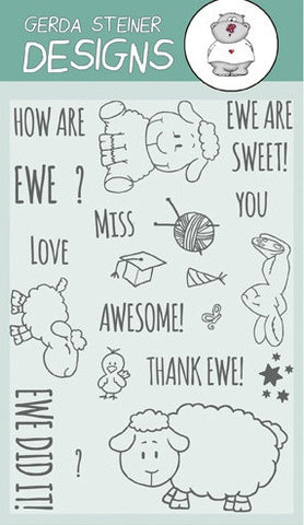 "Gerda Steiner Designs - 4"" x 6"" Stamp Set - How are Ewe?"