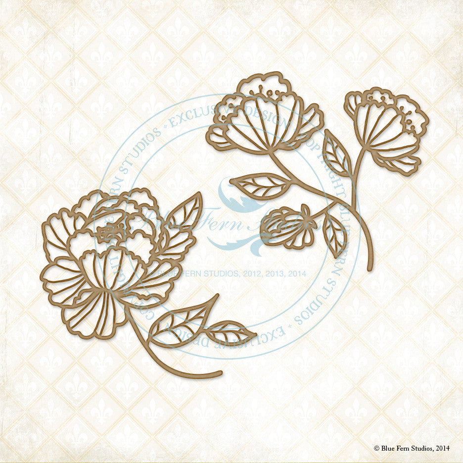 Blue Fern Studios - Chipboard - Ginger's Poppies