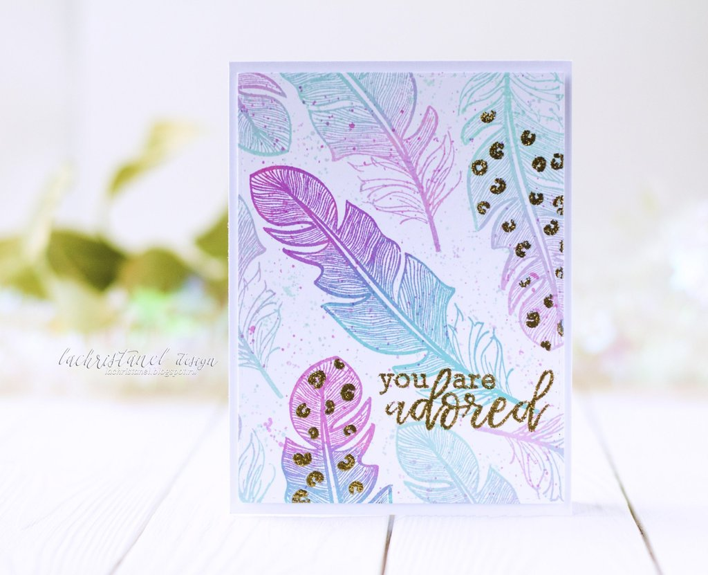 Altenew - Golden Feather Stamp Set