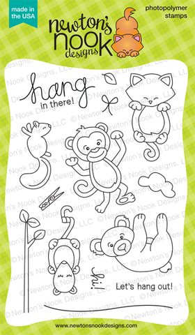 "Newton's Nook Designs - 4"" x 6"" Clear Stamps - Hanging Around"