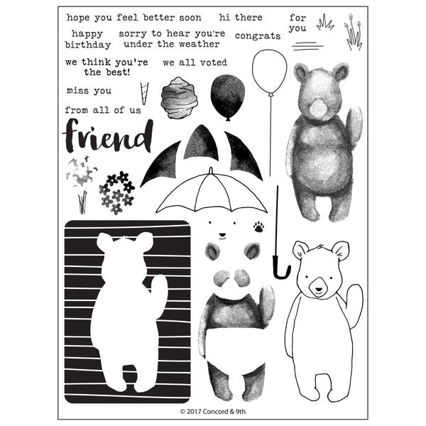 Concord & 9th - Stamp Set - Hi There Bear