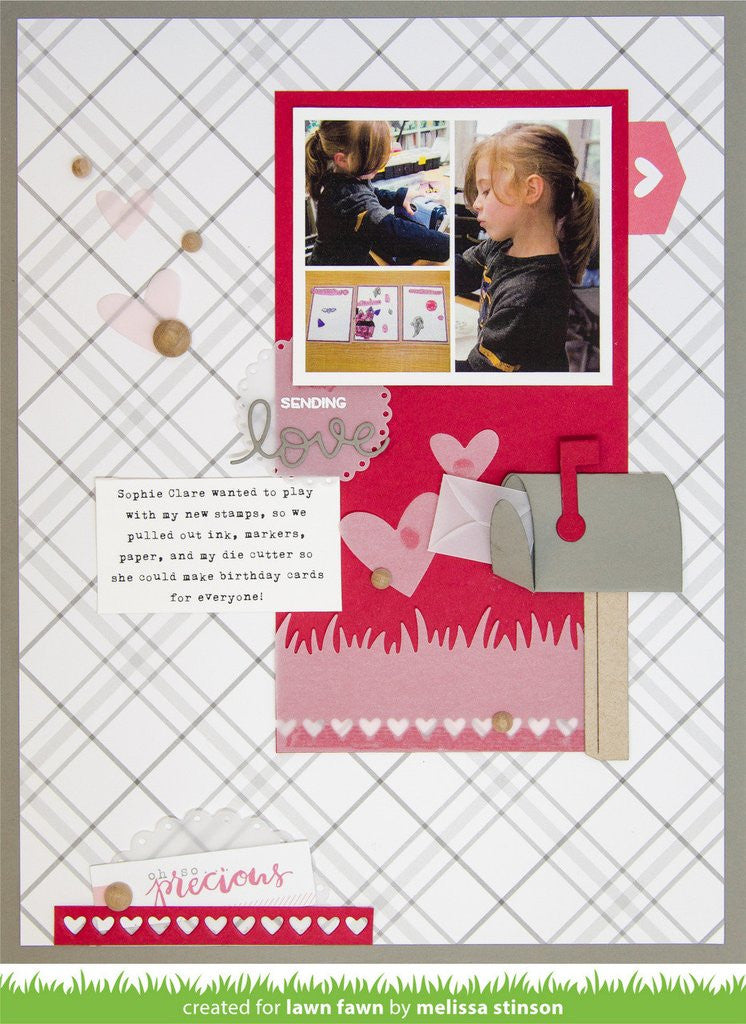 Lawn Fawn, Lawn Cuts Custom Craft Dies - Valentine Borders