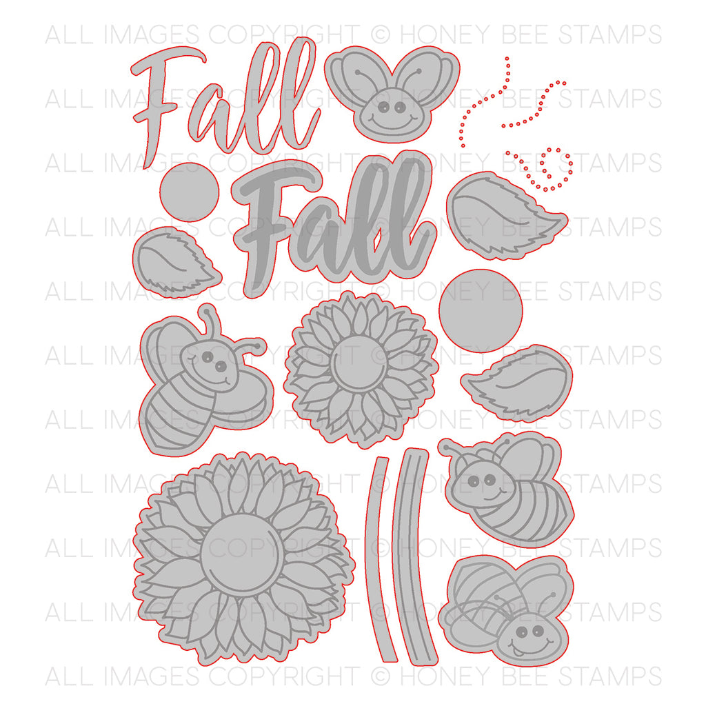 Honey Bee Stamps - Happy Fall Y'all | Honey Cuts | Steel Craft Dies