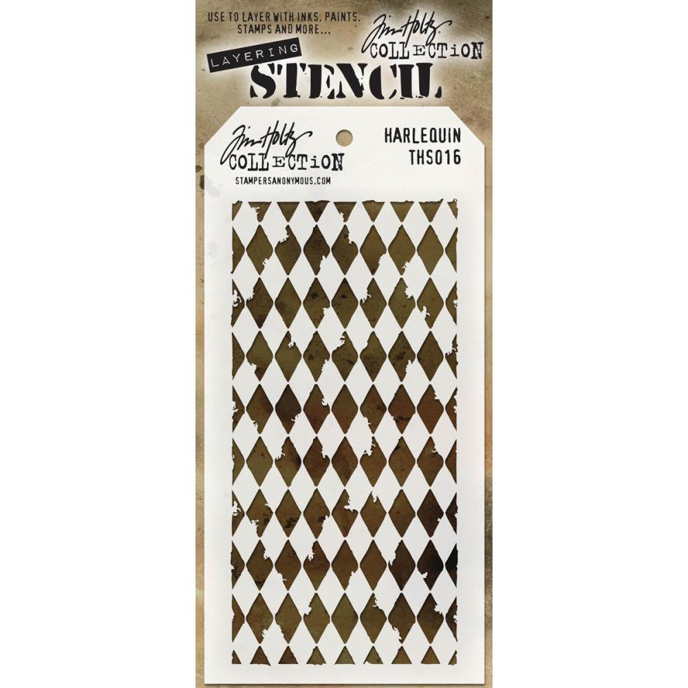 Stampers Anonymous - Tim Holtz - Layering Stencil - Harlequin